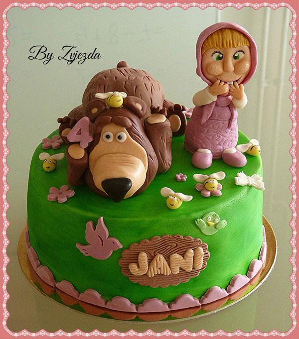 Immagine della torta di Masha e Orso n.62
