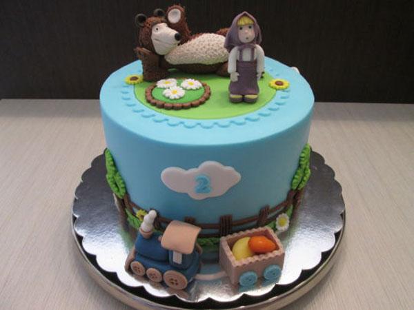 Immagine della torta di Masha e Orso n.63