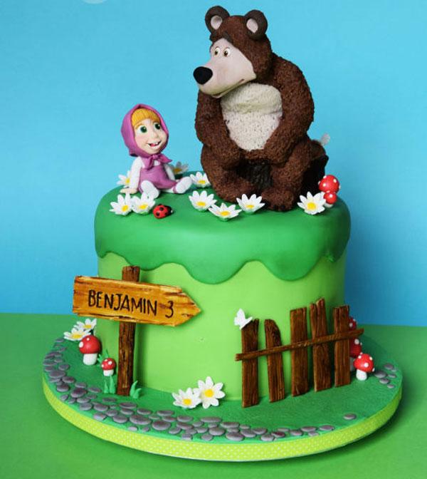 Immagine della torta di Masha e Orso n.64