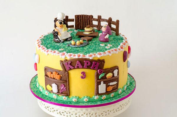 Immagine della torta di Masha e Orso n.65