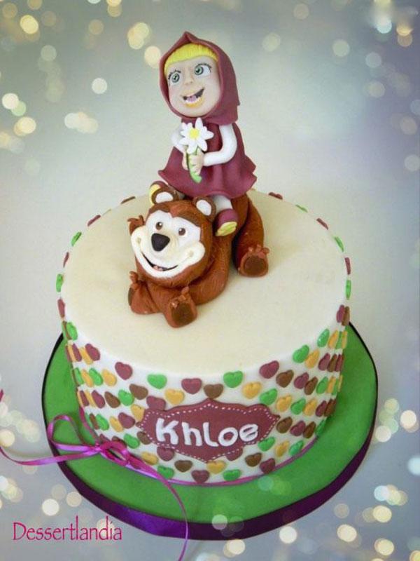 Immagine della torta di Masha e Orso n.66