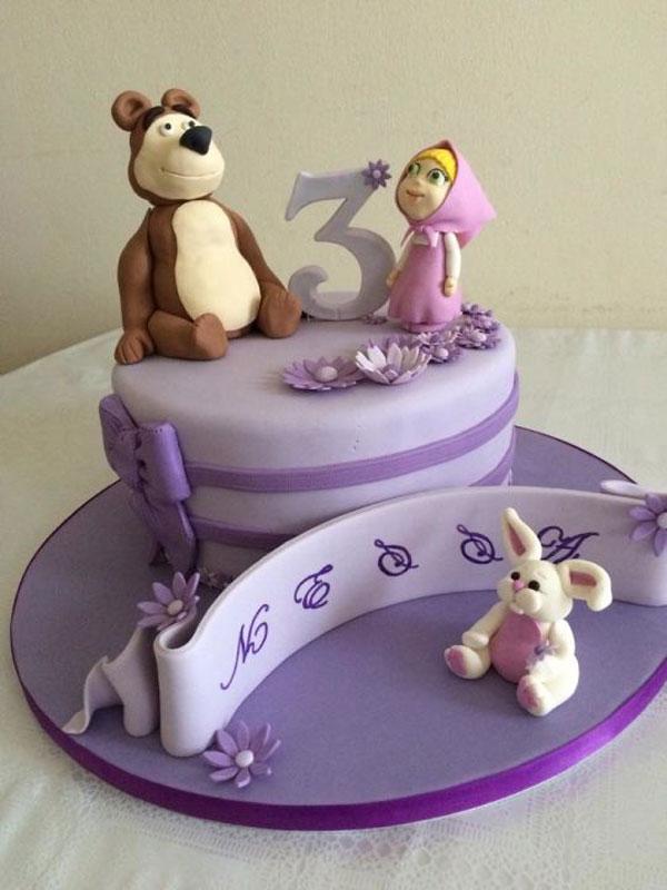 Immagine della torta di Masha e Orso n.67