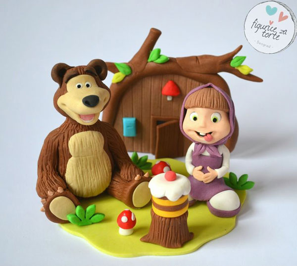 Immagine della torta di Masha e Orso n.69