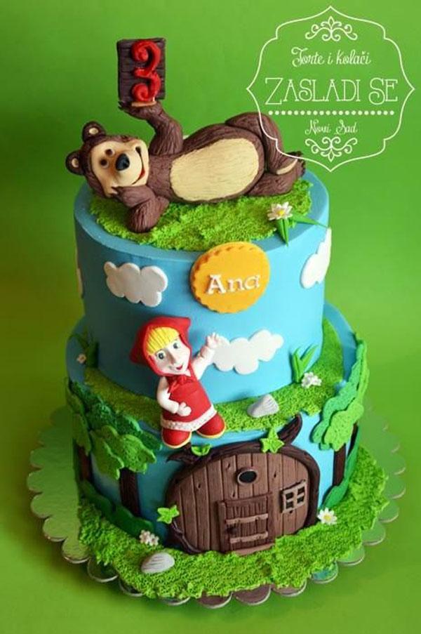 Immagine della torta di Masha e Orso n.70