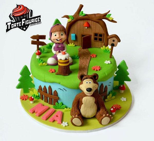 Immagine della torta di Masha e Orso n.71