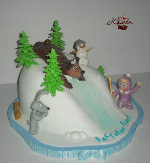 Immagine della torta di Masha e Orso n.73