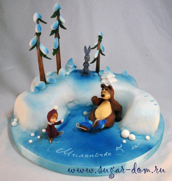 Immagine della torta di Masha e Orso n.74