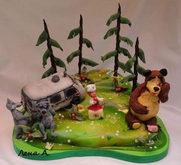 Immagine della torta di Masha e Orso n.76