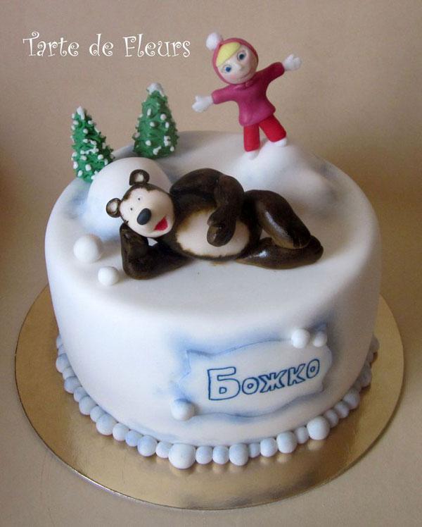Immagine della torta di Masha e Orso n.77