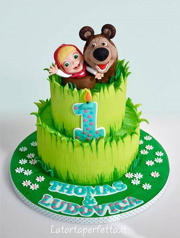 Immagine della torta di Masha e Orso n.79