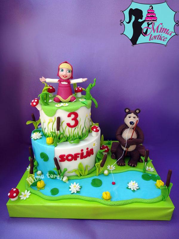 Immagine della torta di Masha e Orso n.80