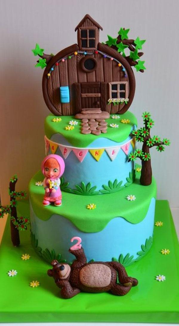 Immagine della torta di Masha e Orso n.81
