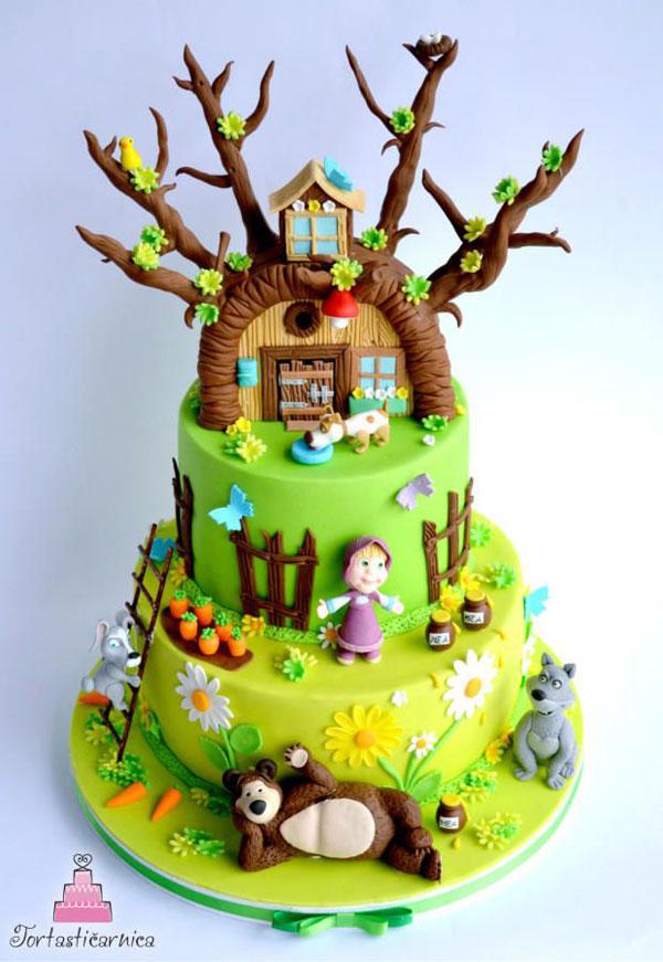 Immagine della torta di Masha e Orso n.82