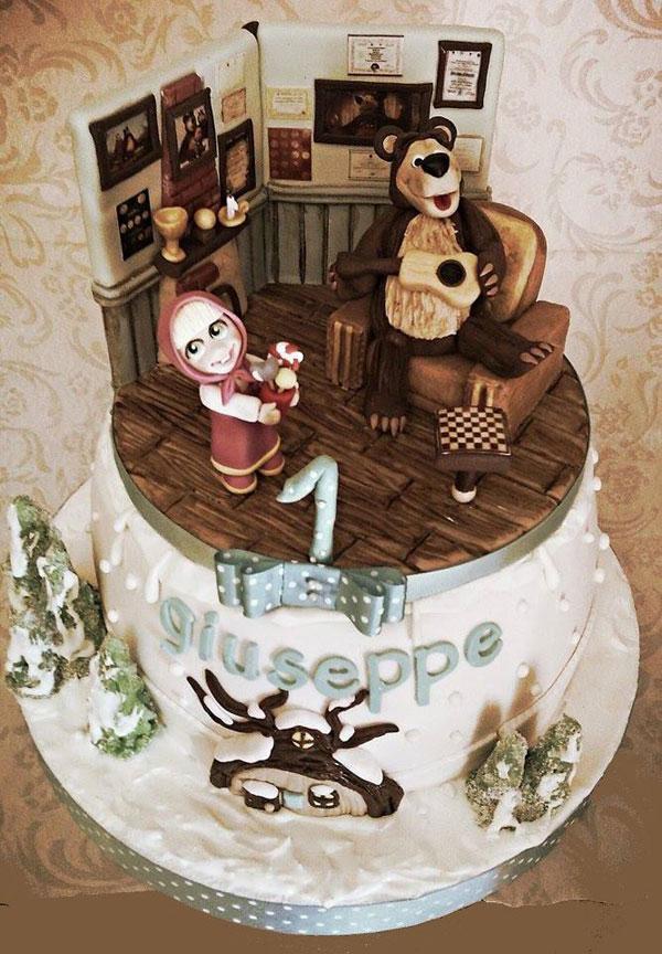 Immagine della torta di Masha e Orso n.83
