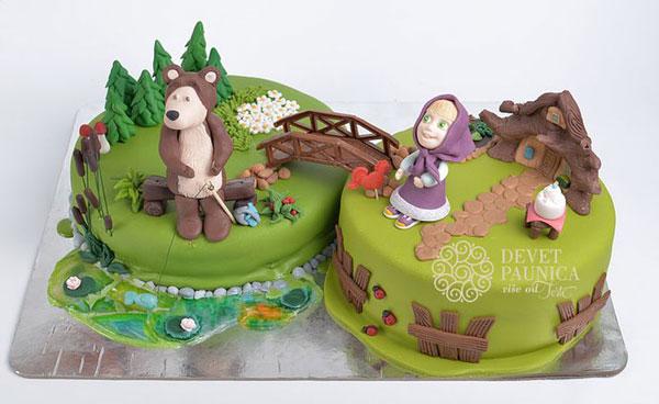 Immagine della torta di Masha e Orso n.84