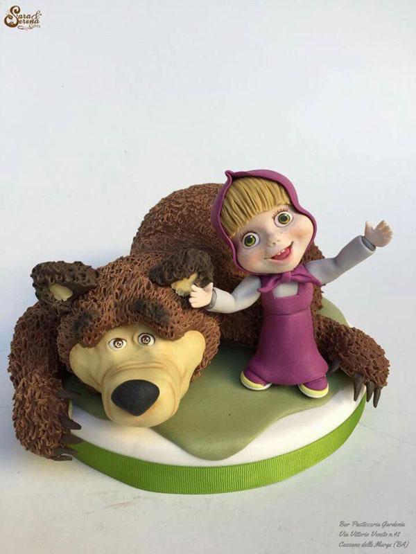 Immagine della torta di Masha e Orso n.86