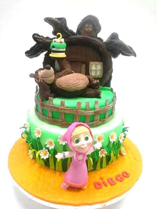 Immagine della torta di Masha e Orso n.88