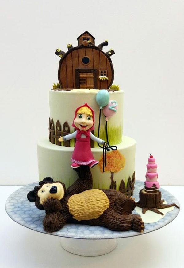 Immagine della torta di Masha e Orso n.90