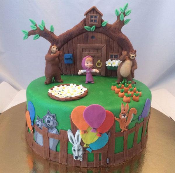 Immagine della torta di Masha e Orso n.91