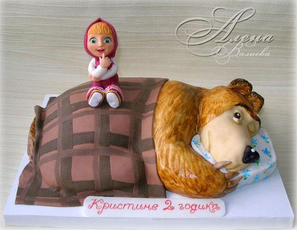 Immagine della torta di Masha e Orso n.92
