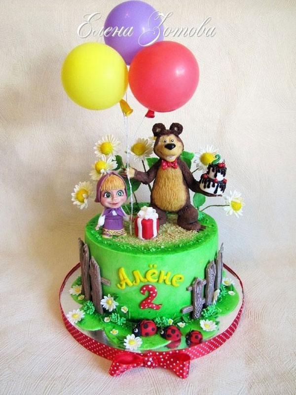 Immagine della torta di Masha e Orso n.93