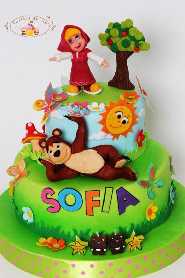 Immagine della torta di Masha e Orso n.94
