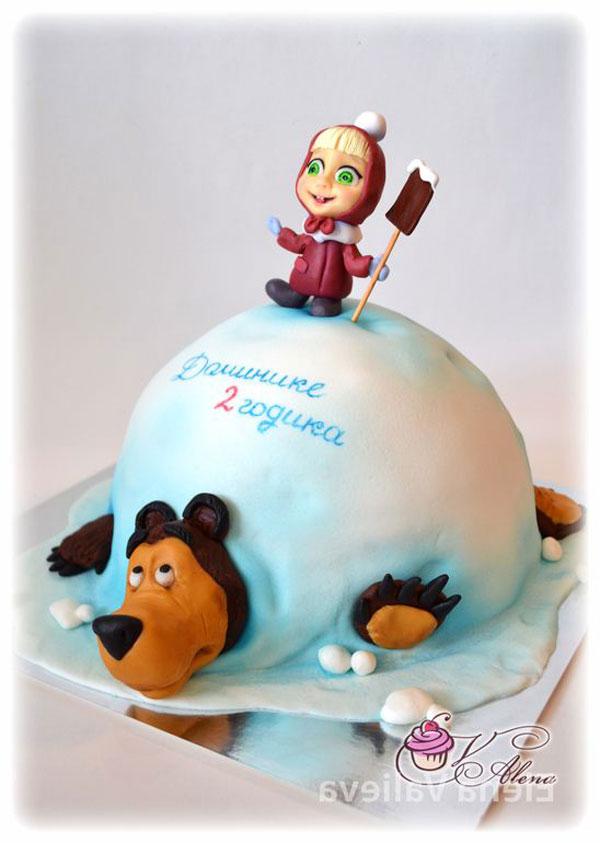 Immagine della torta di Masha e Orso n.95