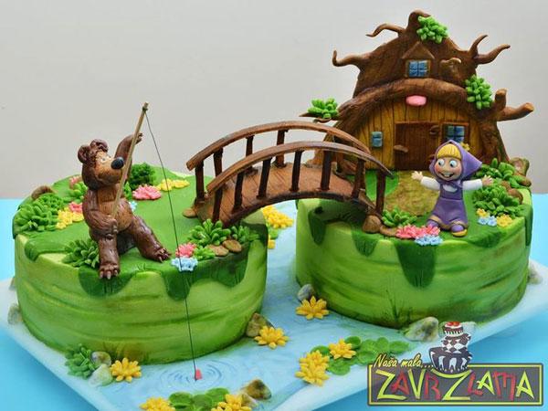 Immagine della torta di Masha e Orso n.96