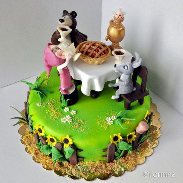 Immagine della torta di Masha e Orso n.99