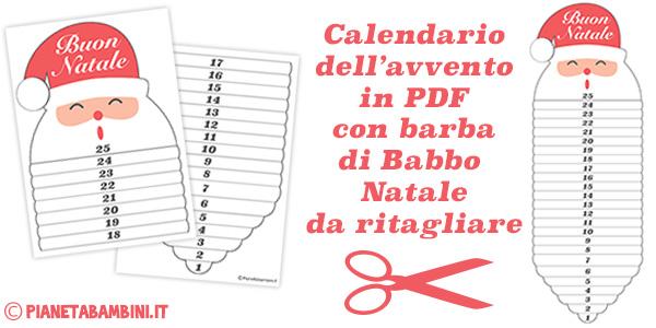 Calendario dell'Avvento da stampare gratis