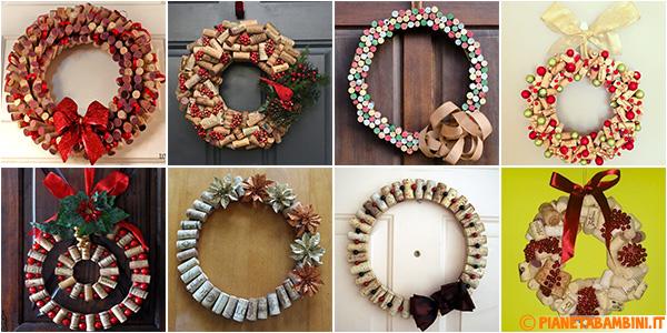 8 ghirlande natalizie con tappi di sughero - Decorazioni natalizie fatte a mano per bambini ...