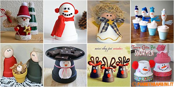 Idee per creare lavoretti natalizi con vasi di terracotta con i bambini