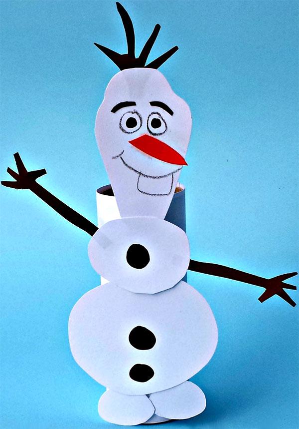 Come realizzare Olaf con del cartoncino