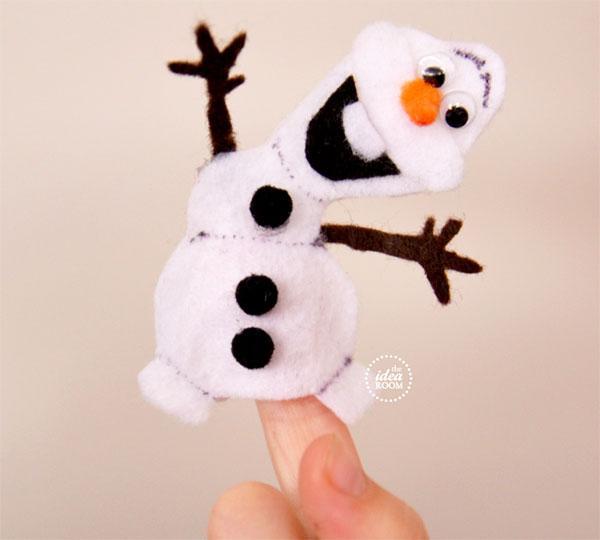 Come creare una marionetta da dita di Olaf