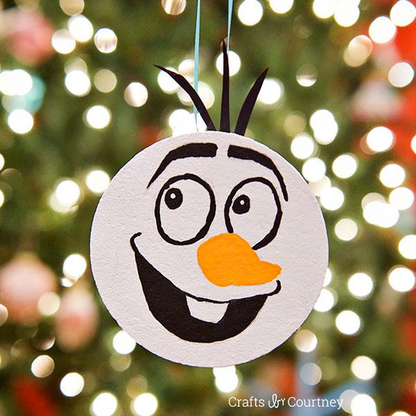 Come creare un ornamento natalizio di Olaf