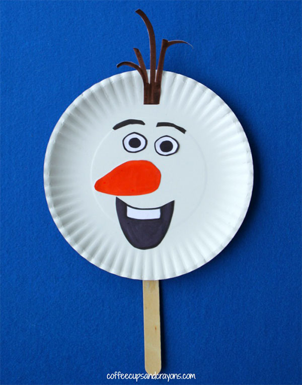 Come creare Olaf con un piatto di carta
