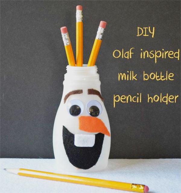 Come creare un portapenne di Olaf