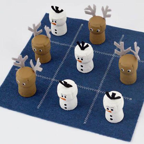 Come creare Olaf utilizzando dei tappi di sughero