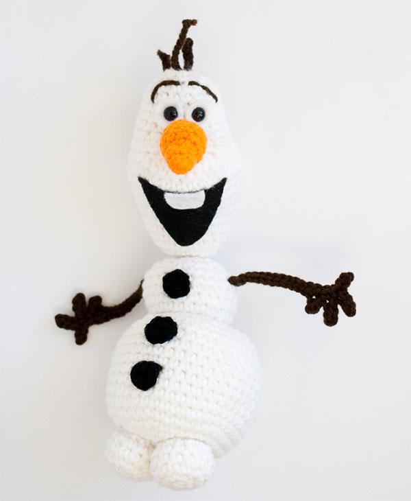 Come creare Olaf all'uncinetto con filo di cotone