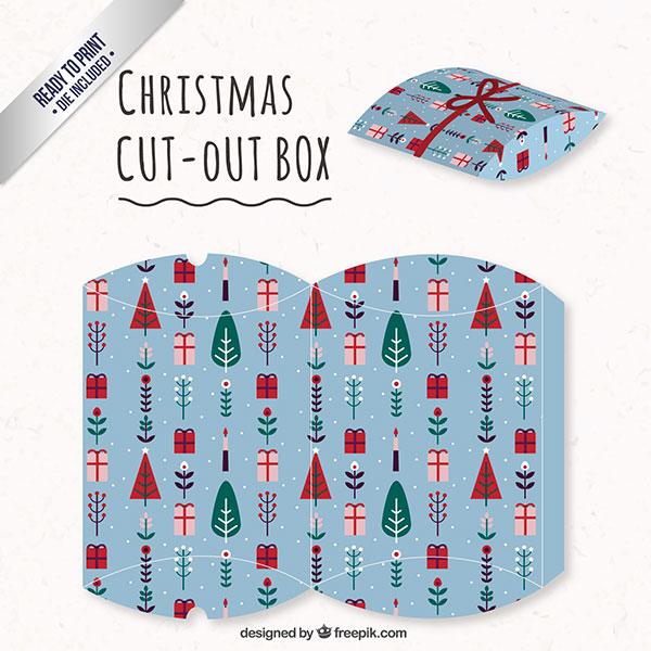 Scatolina regalo natalizia fai da te a forma di busta n.01