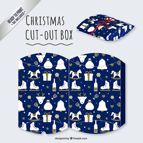 Scatolina regalo natalizia fai da te a forma di busta n.02