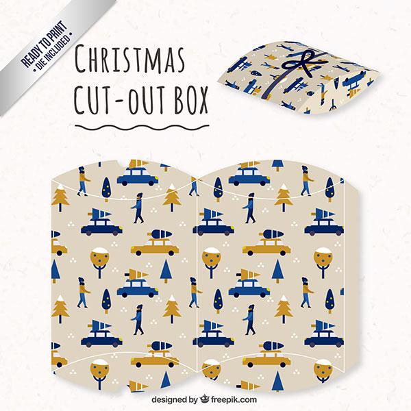 Scatolina regalo natalizia fai da te a forma di busta n.03