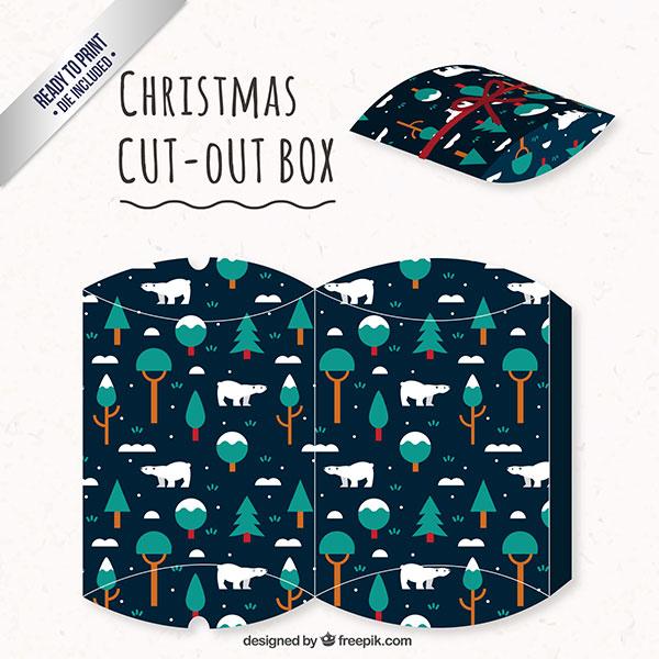 Scatolina regalo natalizia fai da te a forma di busta n.04