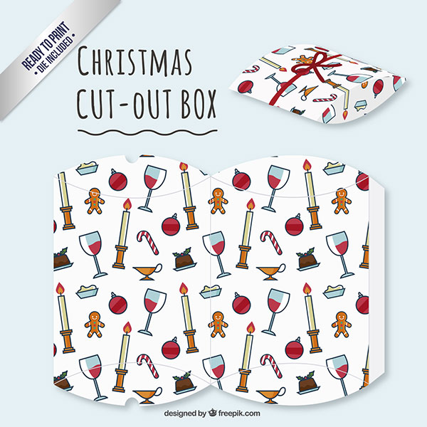 Scatolina regalo natalizia fai da te a forma di busta n.05