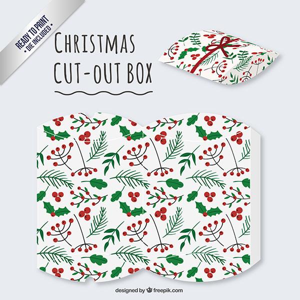 Scatolina regalo natalizia fai da te a forma di busta n.06