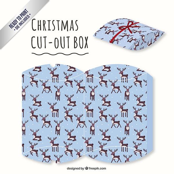Scatolina regalo natalizia fai da te a forma di busta n.07