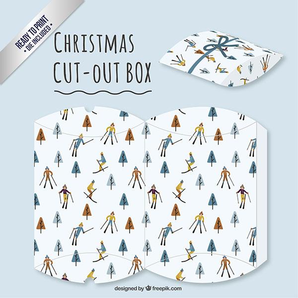 Scatolina regalo natalizia fai da te a forma di busta n.08
