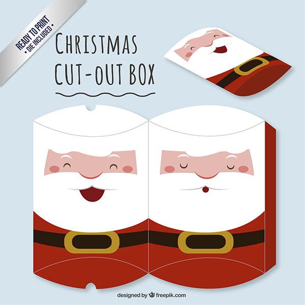 Scatolina regalo natalizia fai da te a forma di busta n.09