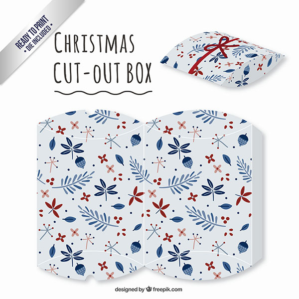 Scatolina regalo natalizia fai da te a forma di busta n.10