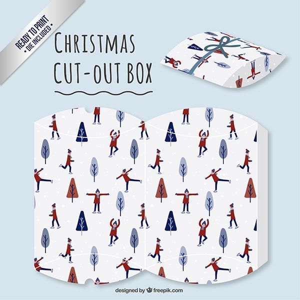 Scatolina regalo natalizia fai da te a forma di busta n.11